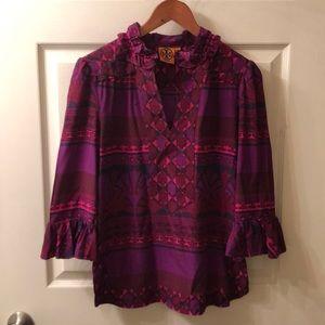 Tory Burch multi printed blouse